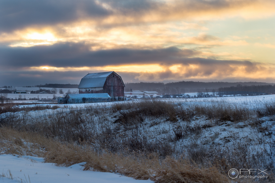 Geneseo NY Winter Sunrise